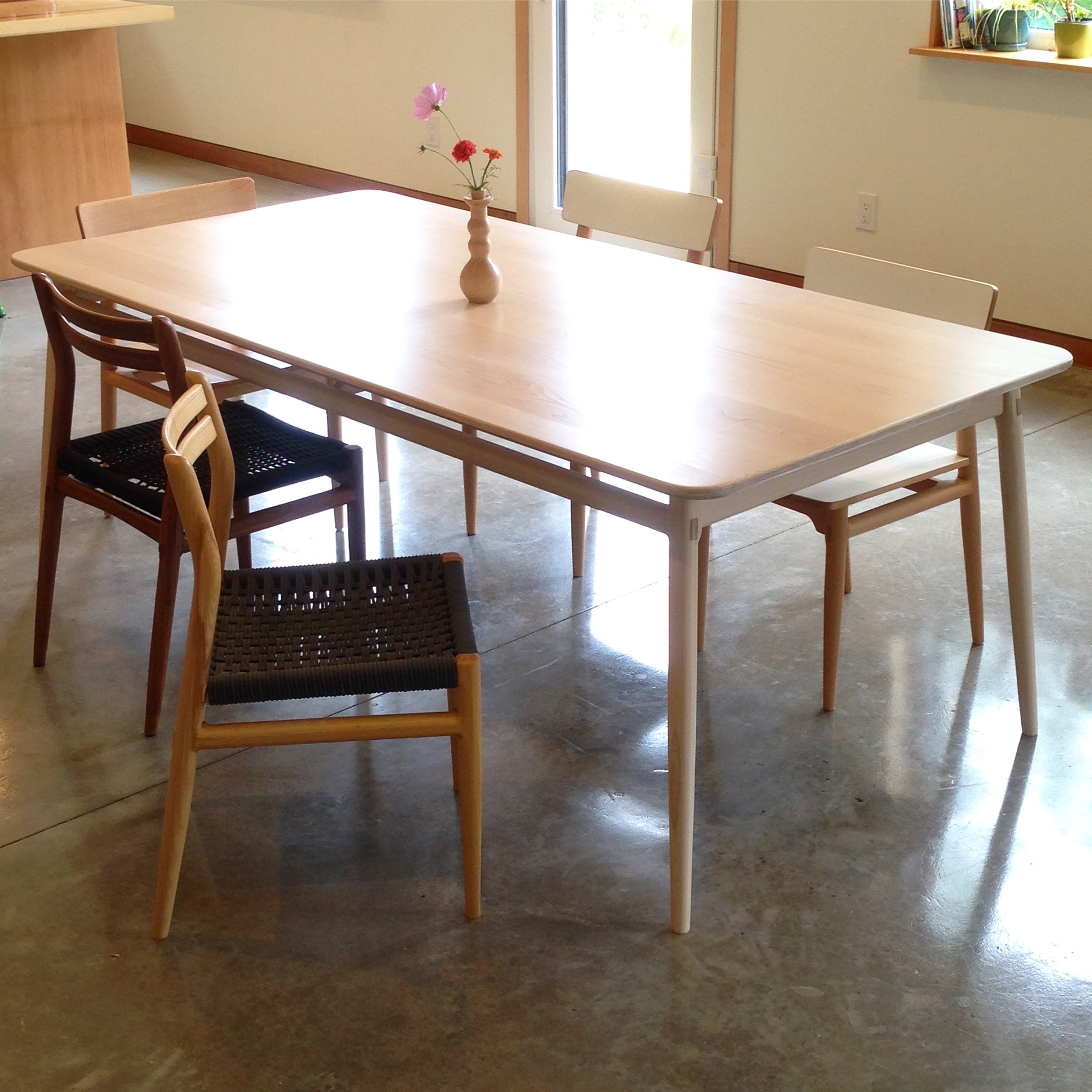 "Lars Table in Whitewashed Beech (fixed length 80"" x 40"")"