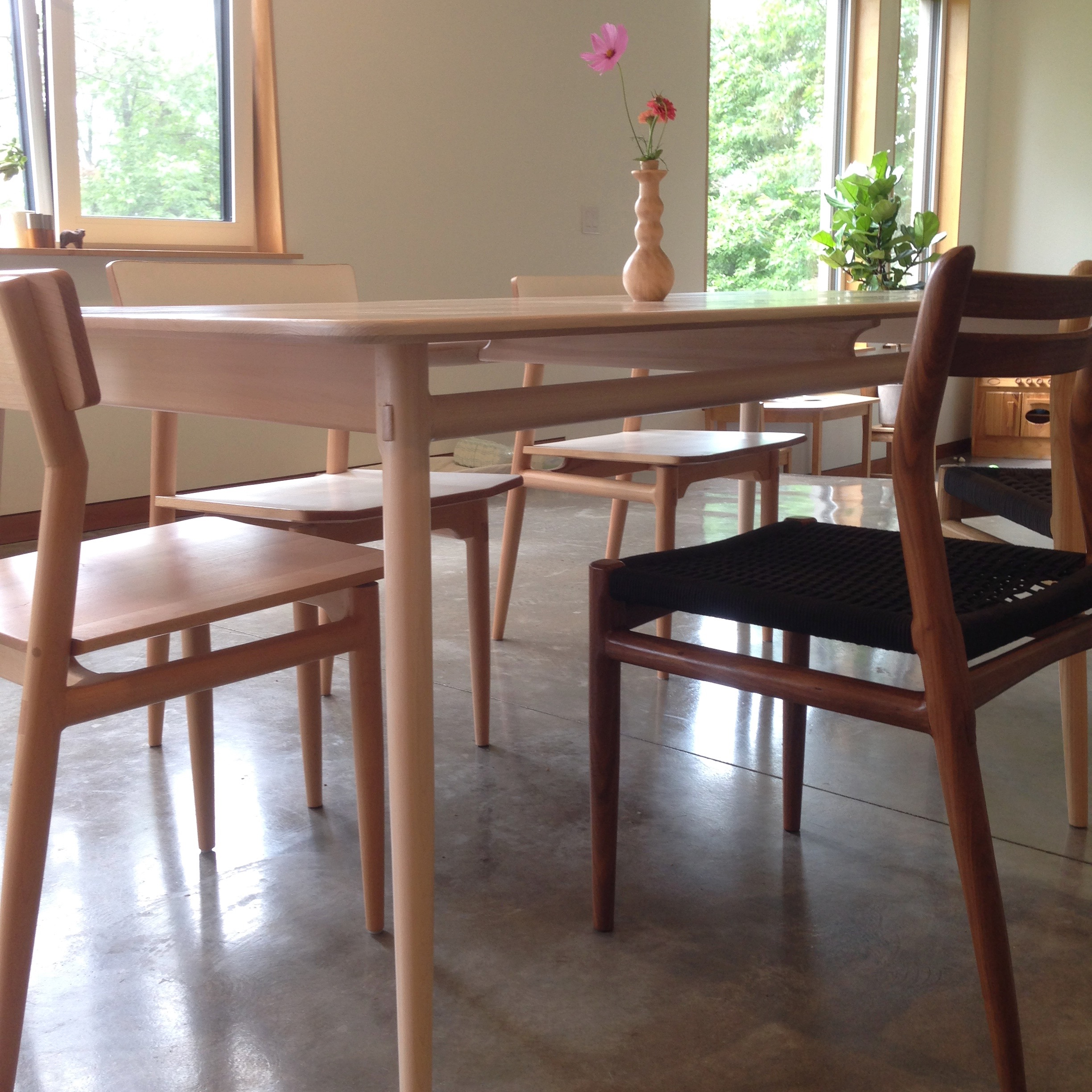 """Lars Table in Whitewashed Beech (fixed length 80"""" x 40"""")"""