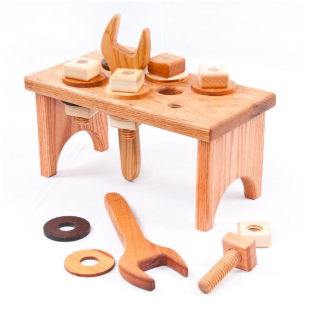 Wooden Toy Workbench: handmade in USA