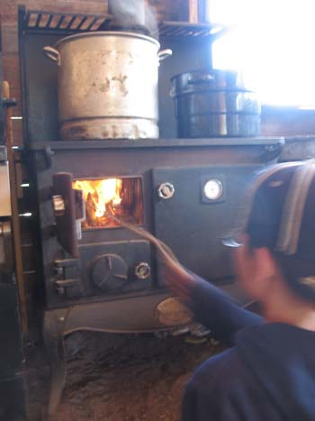 Old school wood cook stove