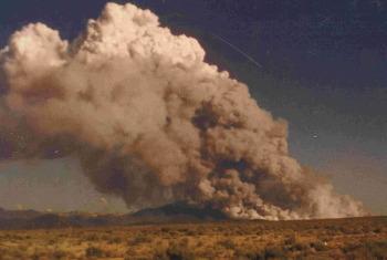 1996 Hondo Fire consumes Lama Mt