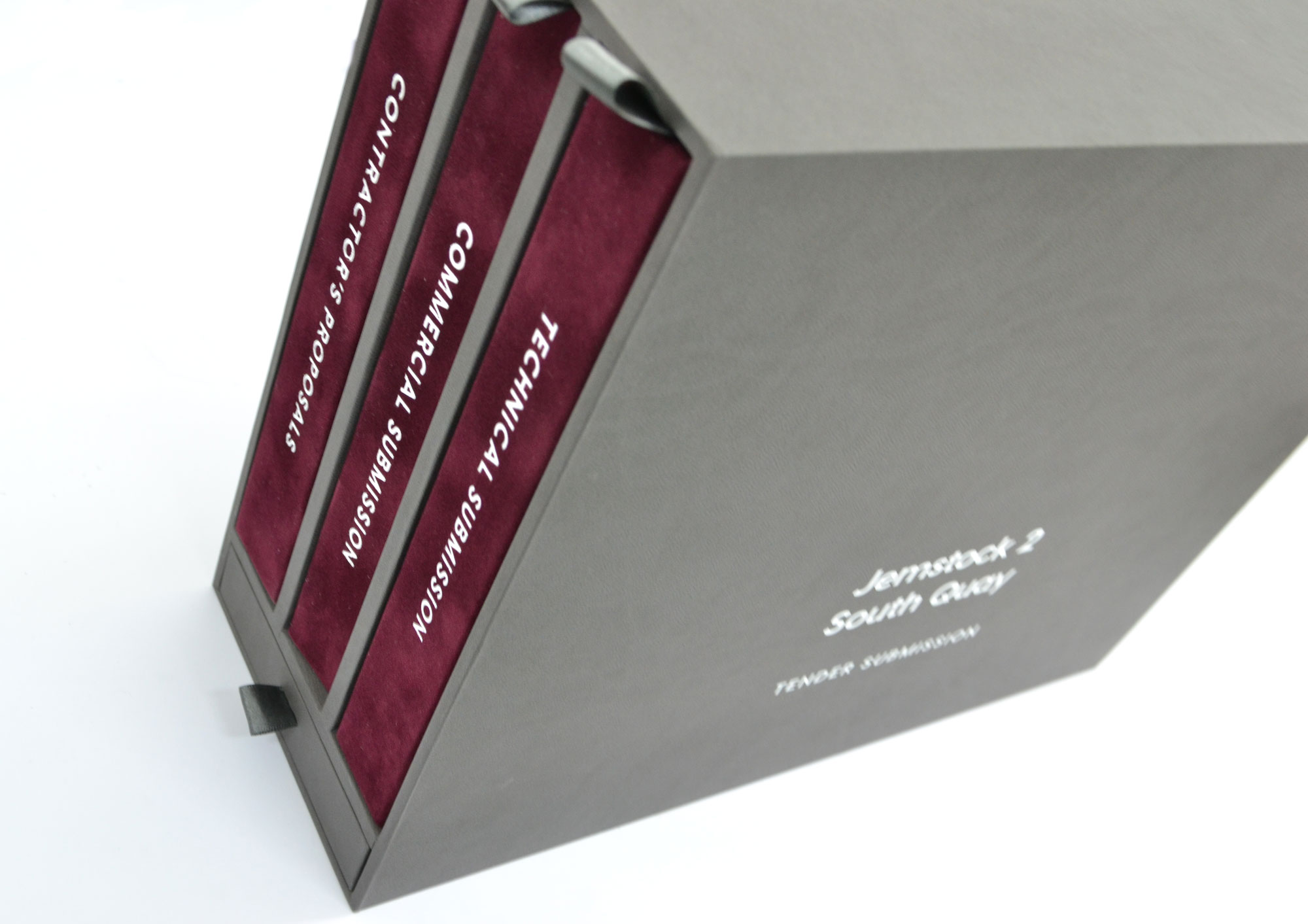 Slip Case Presentation Box with Silver Foiling
