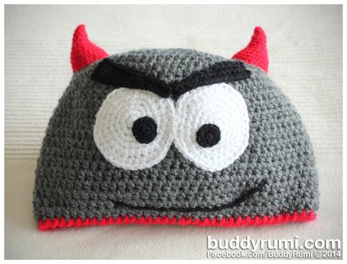 Little devil crochet hat