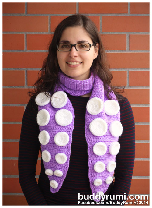 Crochet scarf octopus tentacle
