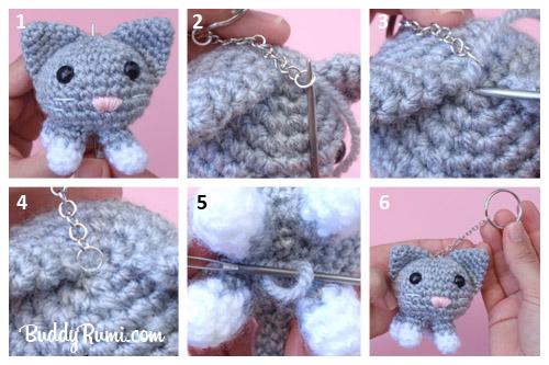 Crochet Keychain - 15 Free Crochet Patterns ⋆ DIY Crafts | 333x500