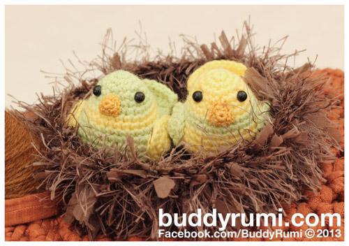 Amigurumi crochet cute birds