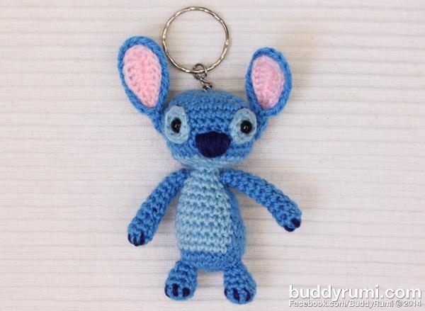 Stitch crochet keyring keychain
