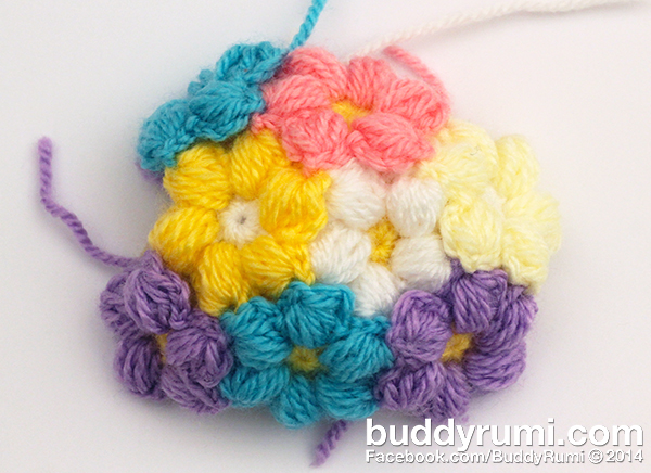 Crochet flower ball