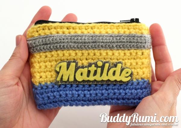 Personalized minion crochet wallet