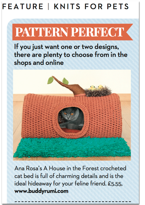 House in the Forest feature on Let's Knit magazine