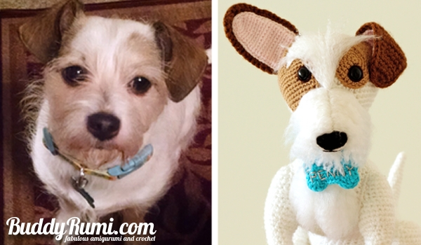 Custom amigurumi crochet dog
