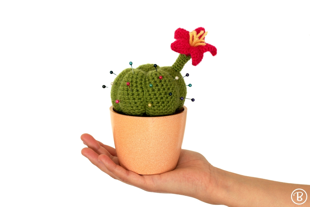 Crochet pincushion cactus