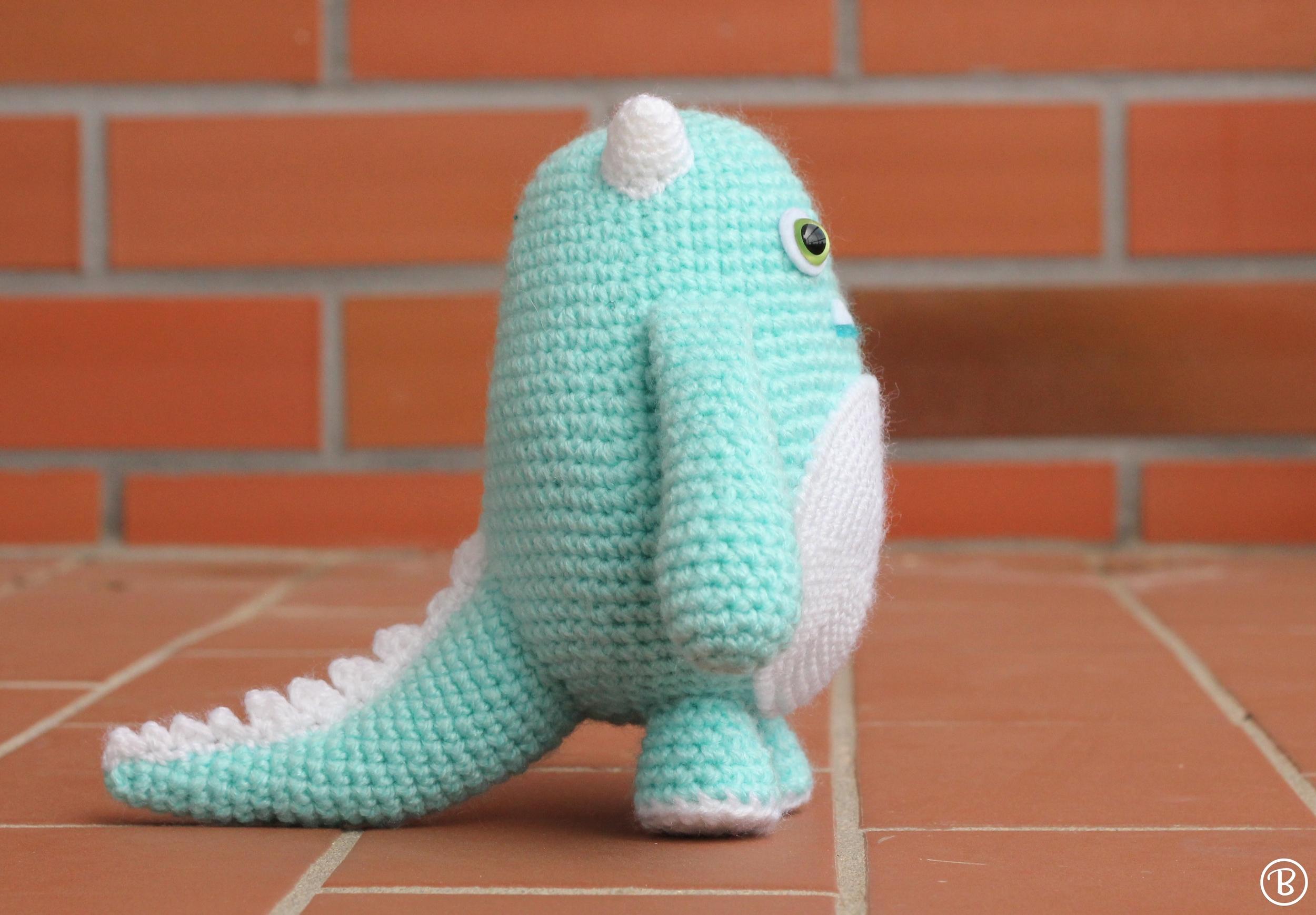 Baby monster crochet toy