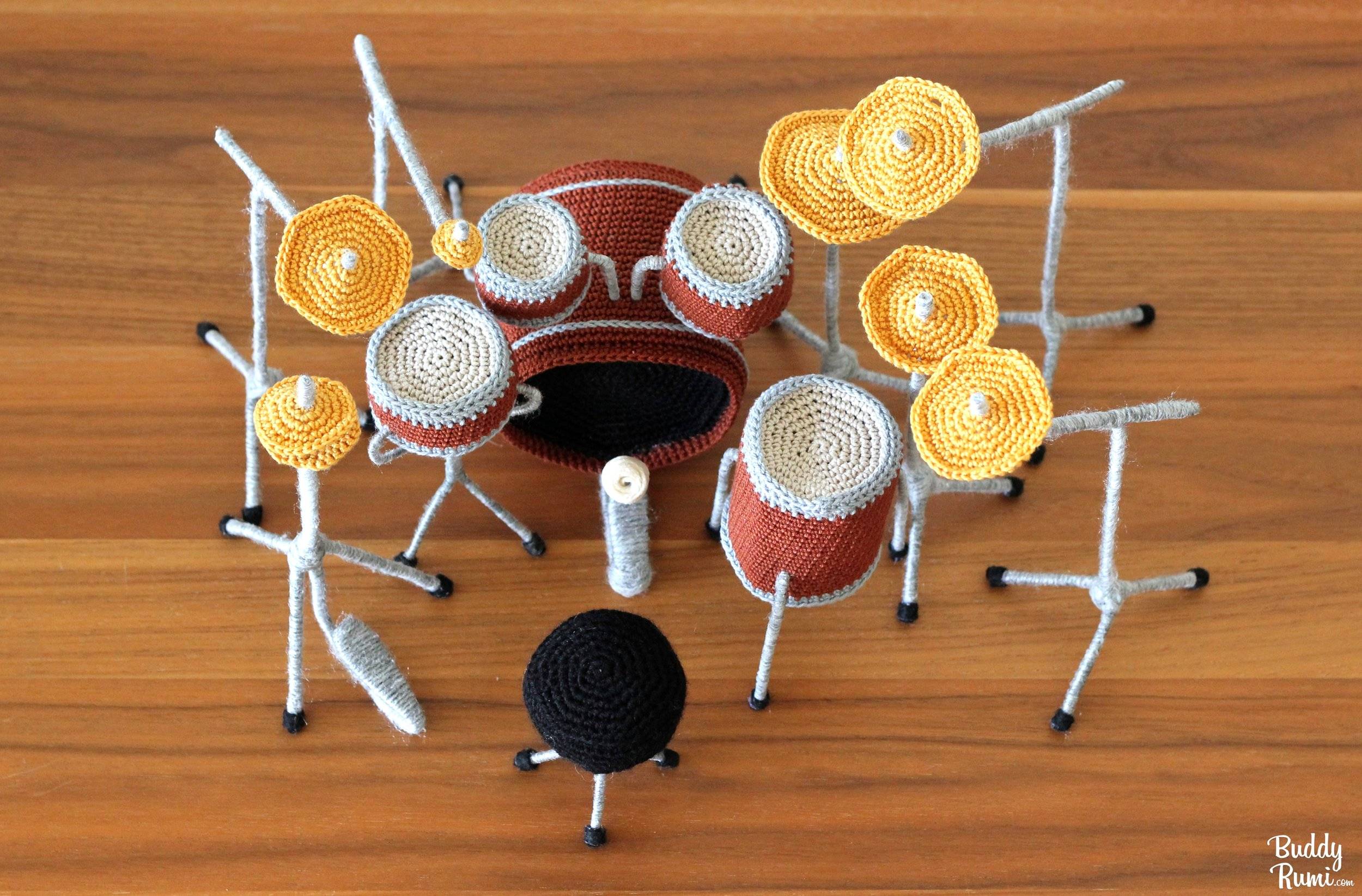 Crochet drums