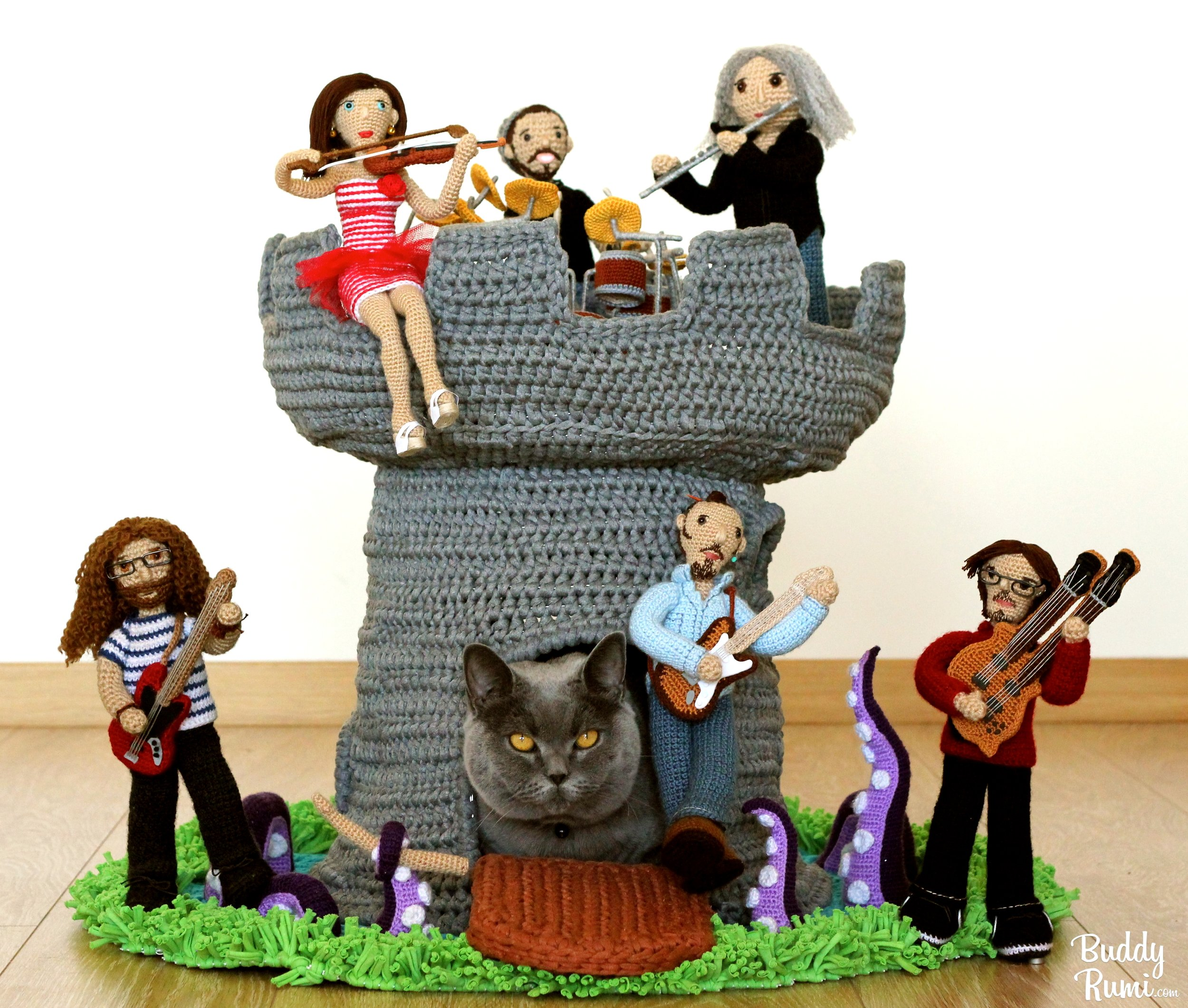 Kitty house crochet band