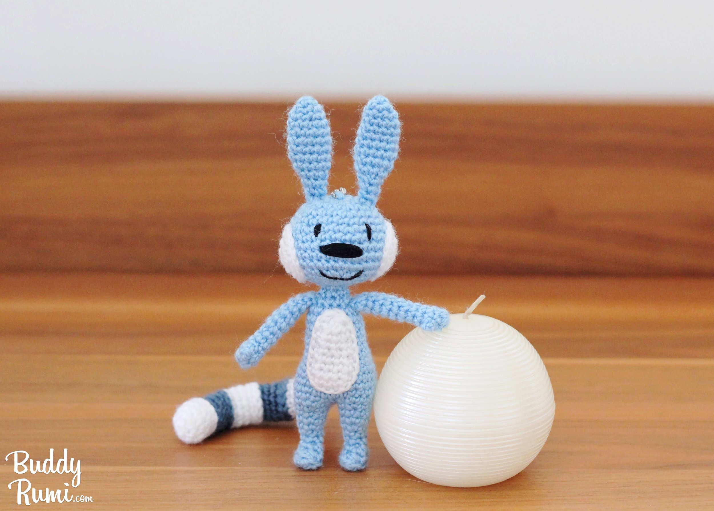 Crochet amigurumi blue creature Hatch