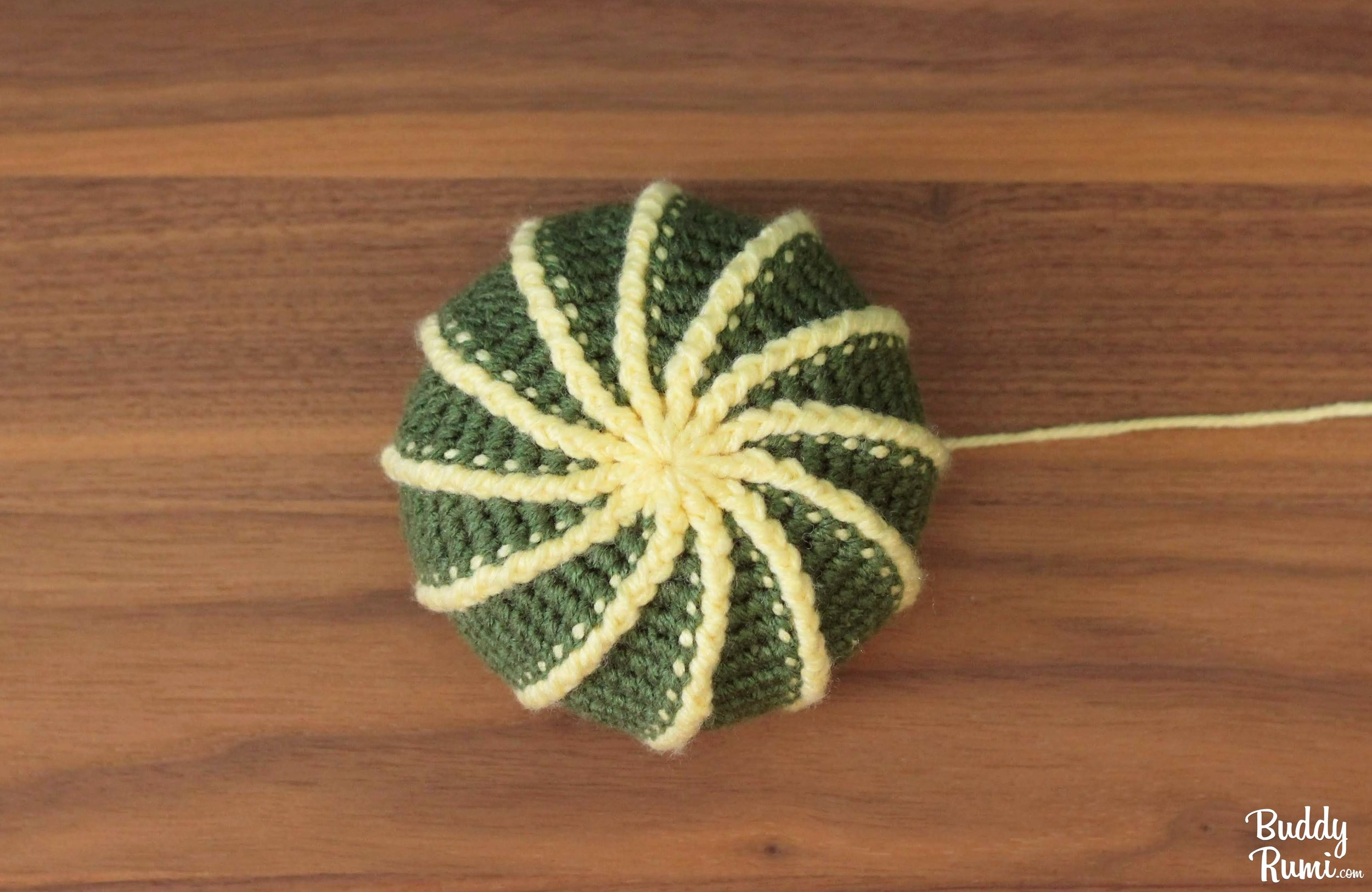 Amigurumi golden barrel cactus