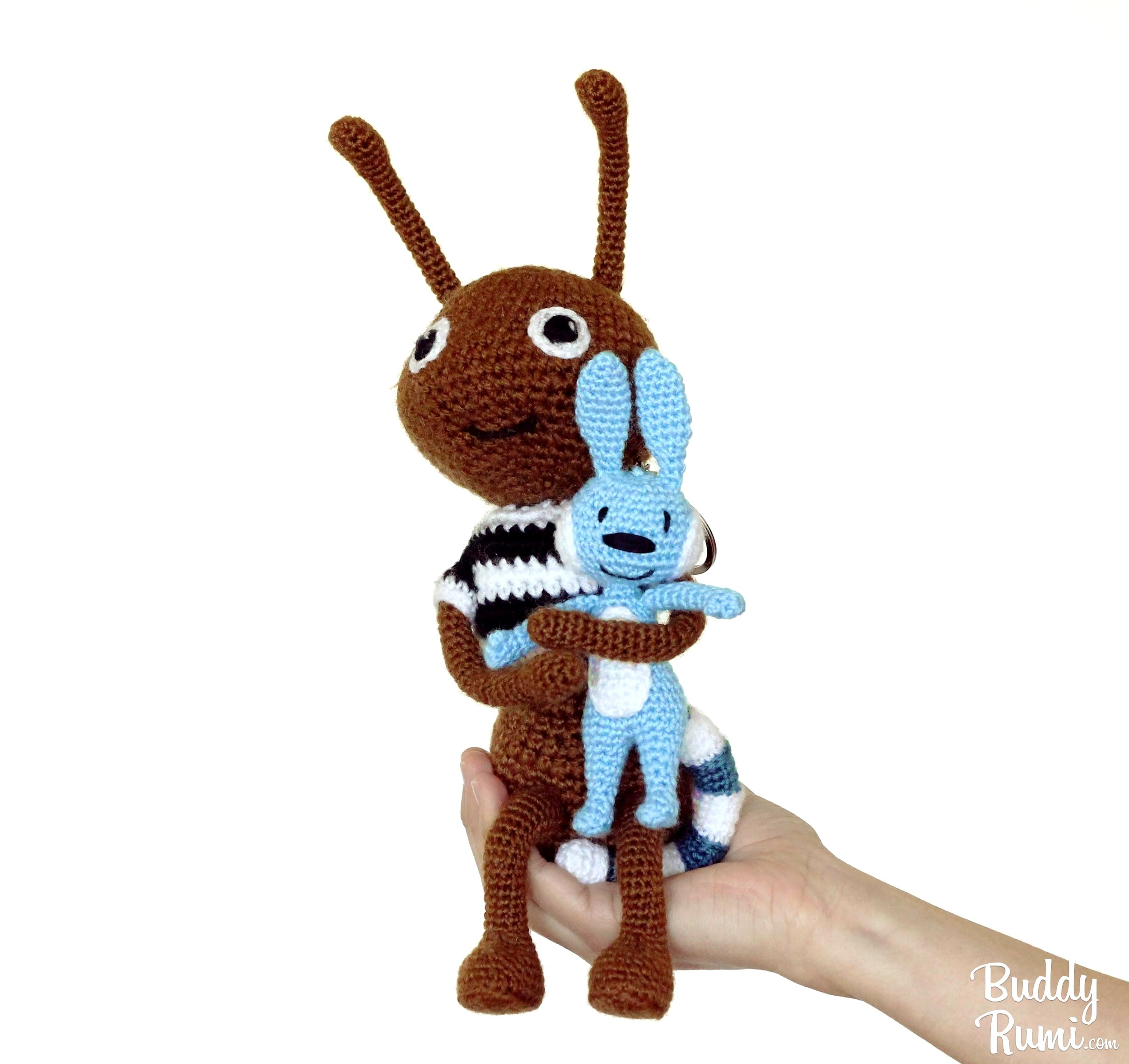 Robber ant and Hatch amigurumi pattern