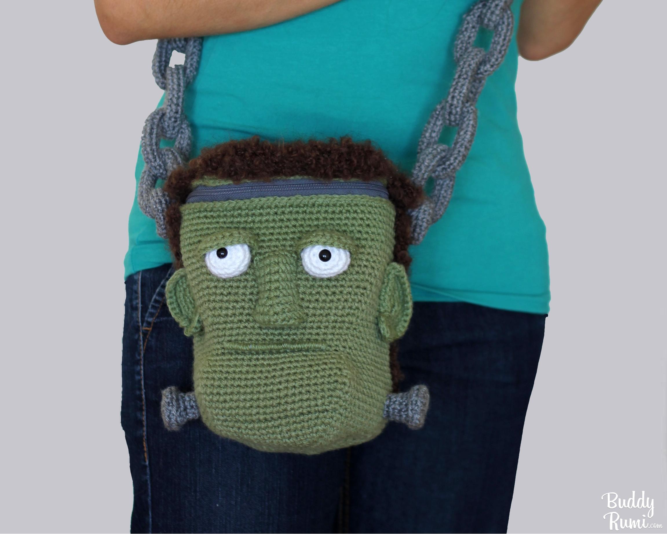 Frankenstein crochet purse