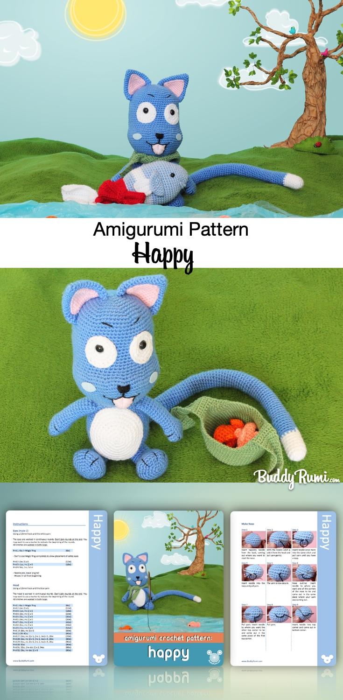 Fairy Tail Amigurumi Happy Pattern