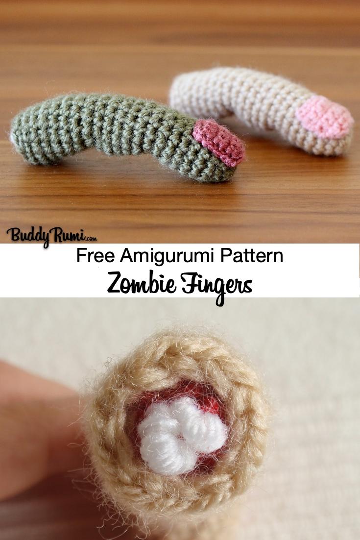 Chopped finger halloween amigurumi crochet pattern