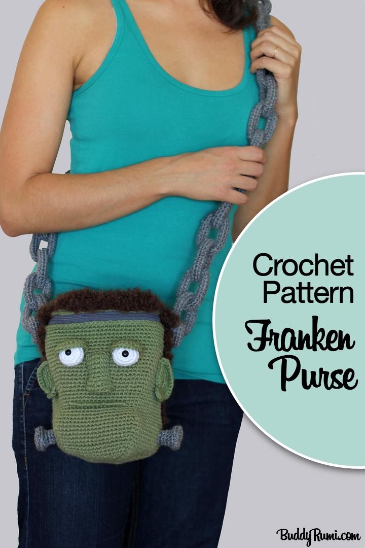 FrankenPurse Halloween crochet bag pattern