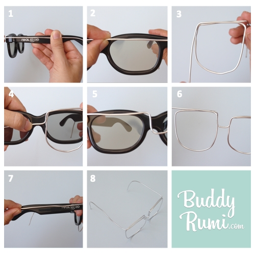 Glasses and moustache mask tutorial