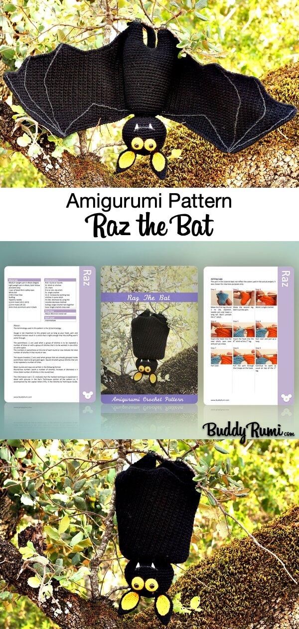 Amigurumi bat Halloween pattern