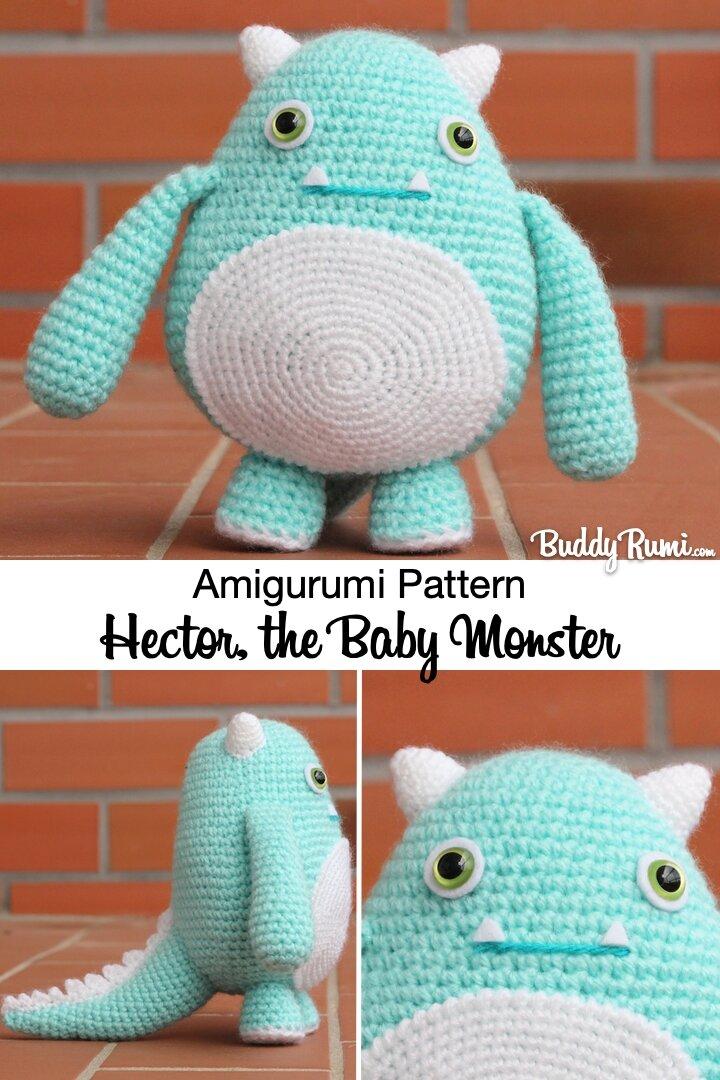 Amigurumi baby monster, cute Halloween pattern