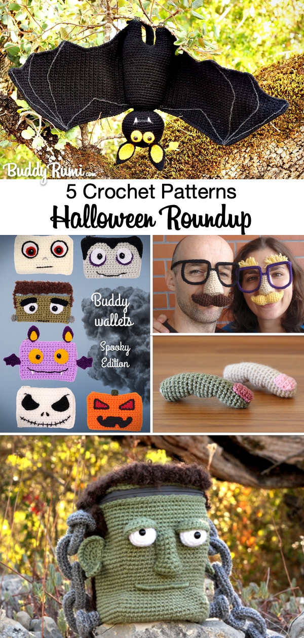 Crochet and amigurumi patterns and free video tutorials for Halloween
