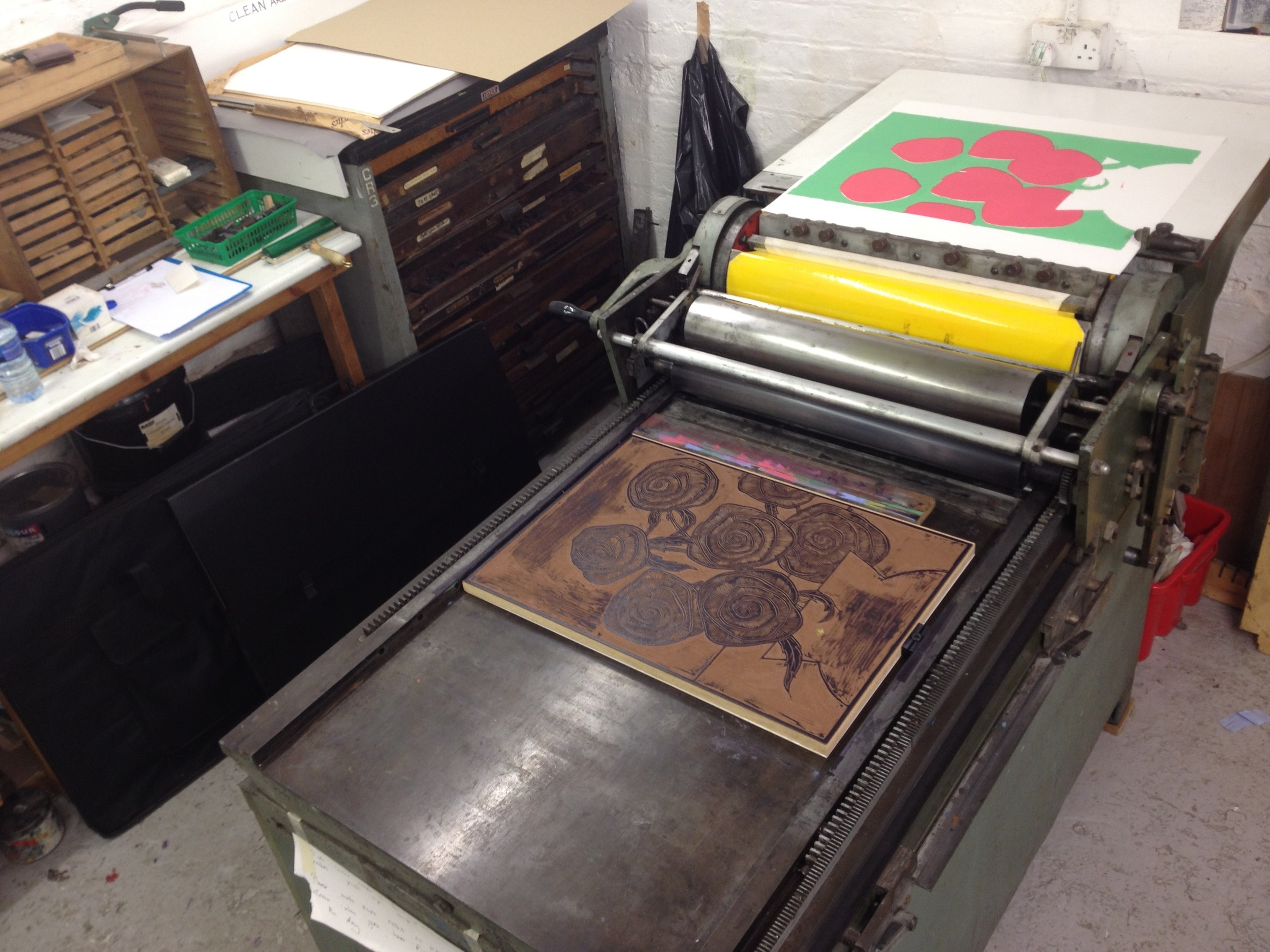 the third plate in the Letterpress and ready to strike