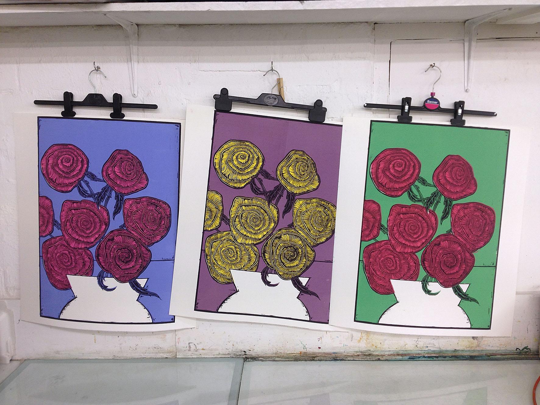 the three colour pathways hanging around