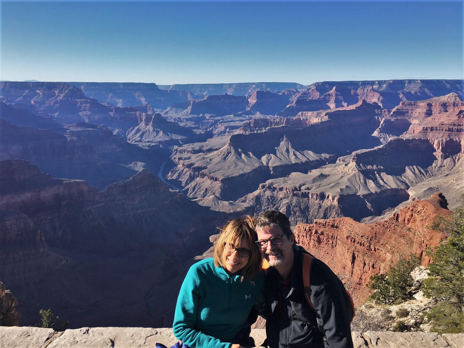 Adey and tom enjoying the grand canyon