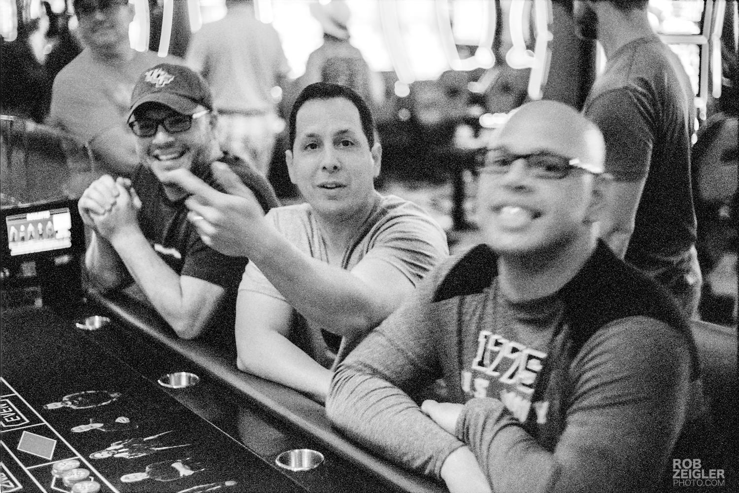 The moment when Ian informed me that the dealer was upset about me taking photos in the casino. My plan was foiled…