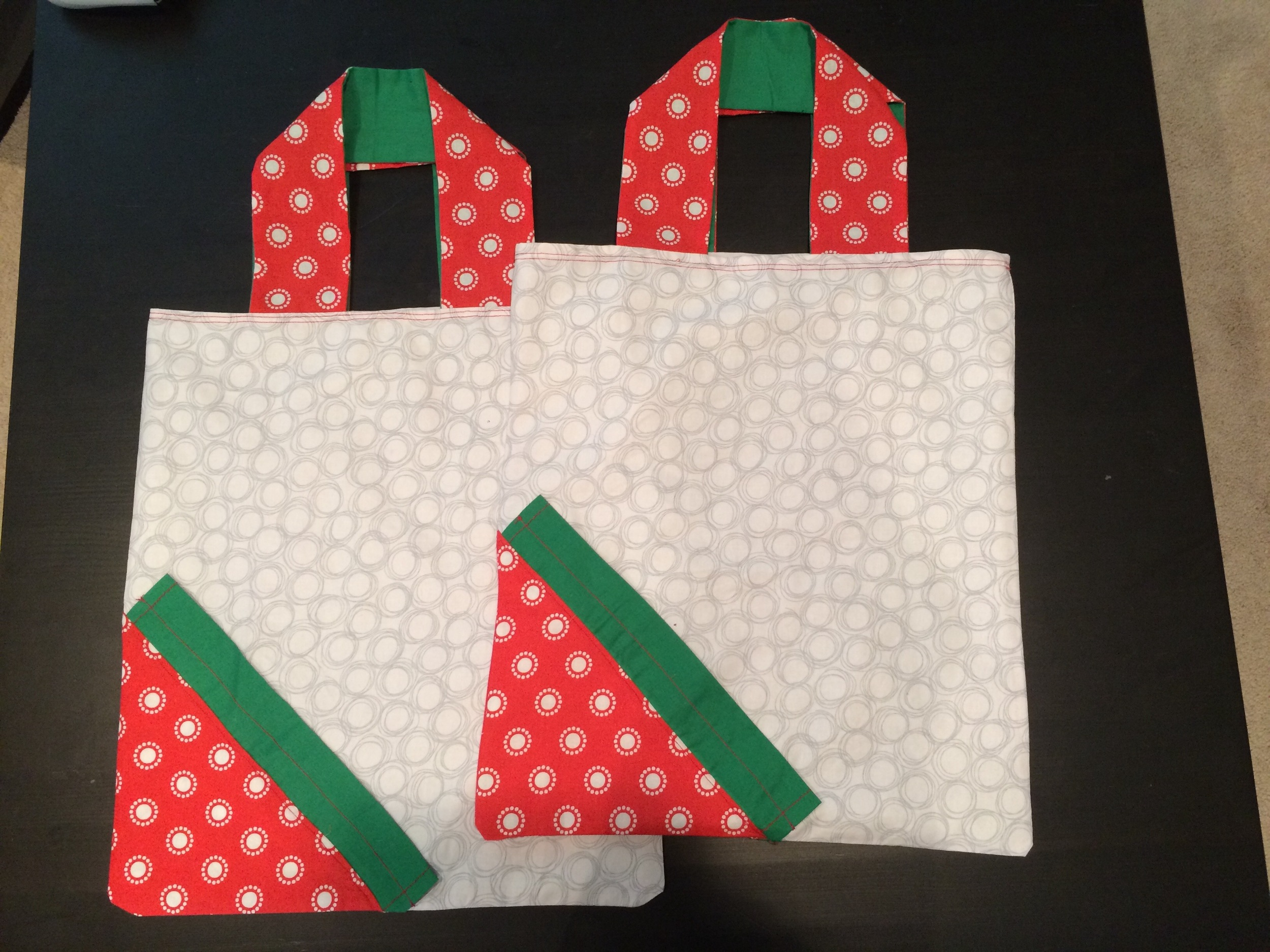 Made two of these strawberry bags