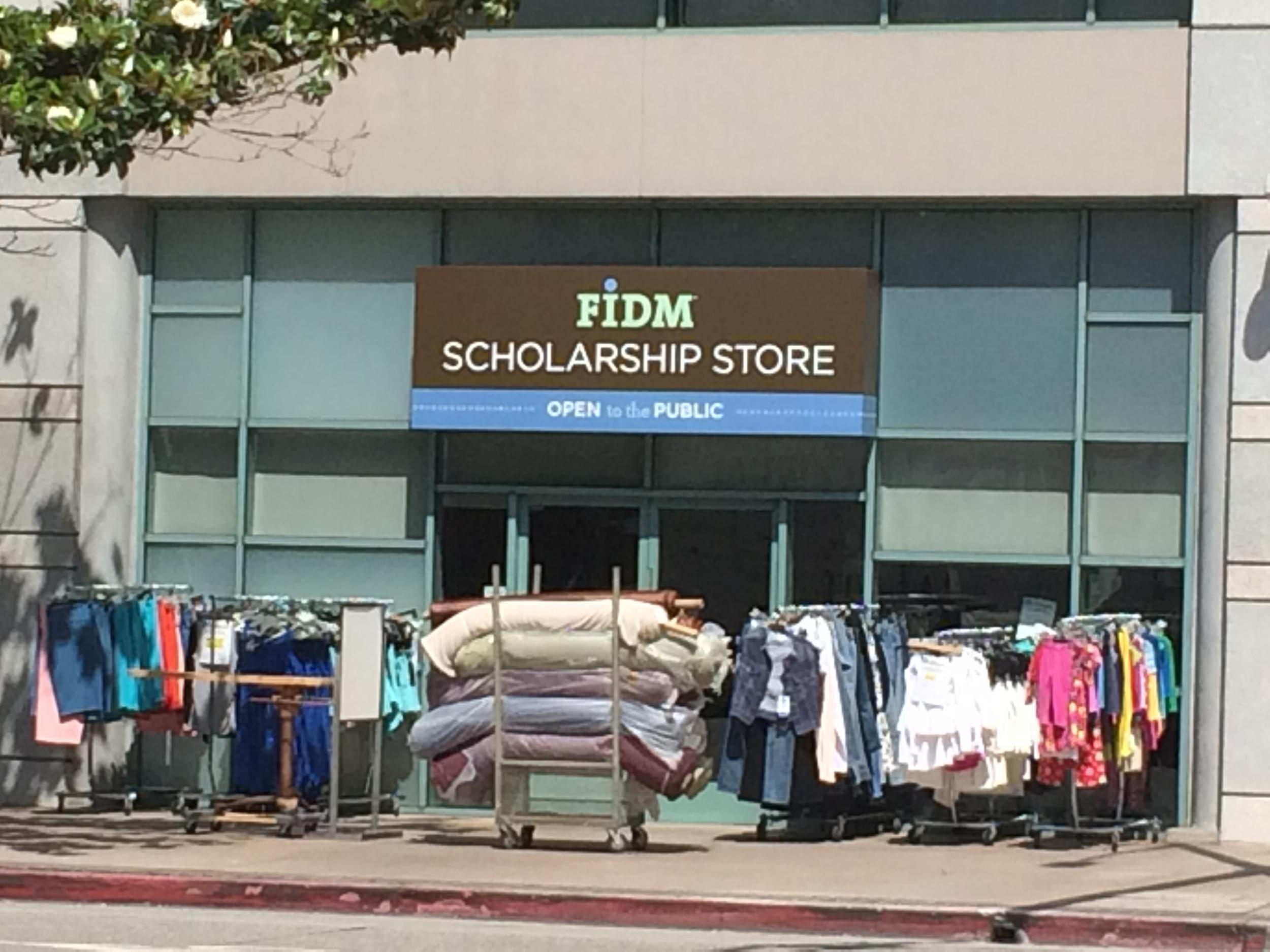 The FIDM Scholarship store.