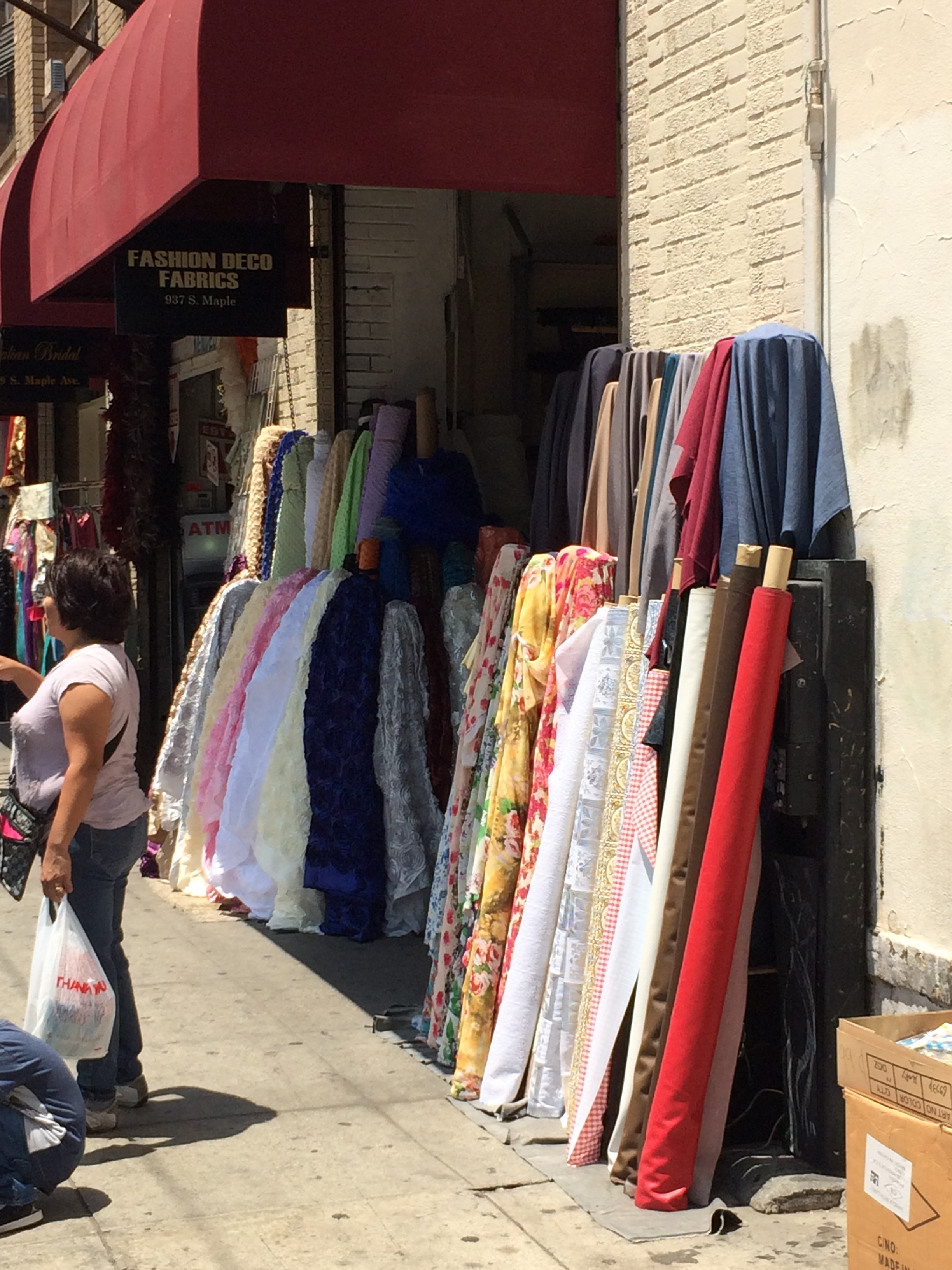 Fabric on the sidewalks everywhere!