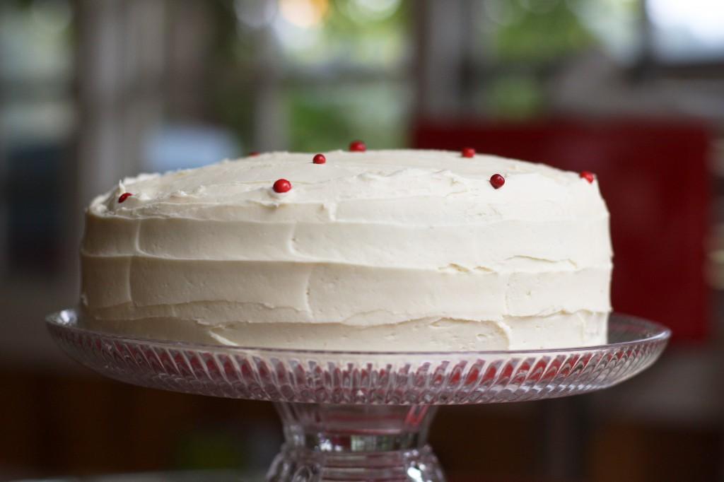 Sugar Sugar Red Velvet Cake with Brown Sugar Cream Cheese Buttercream