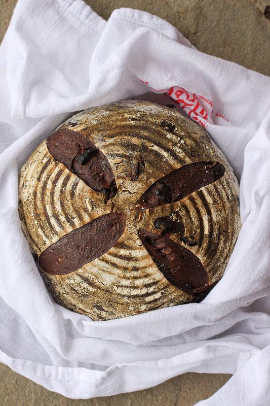 Chocolate Sourdough Hearth Bread