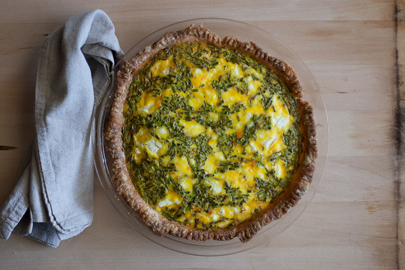 Rustic Farm Egg Quiche with Coho Salmon & Chives