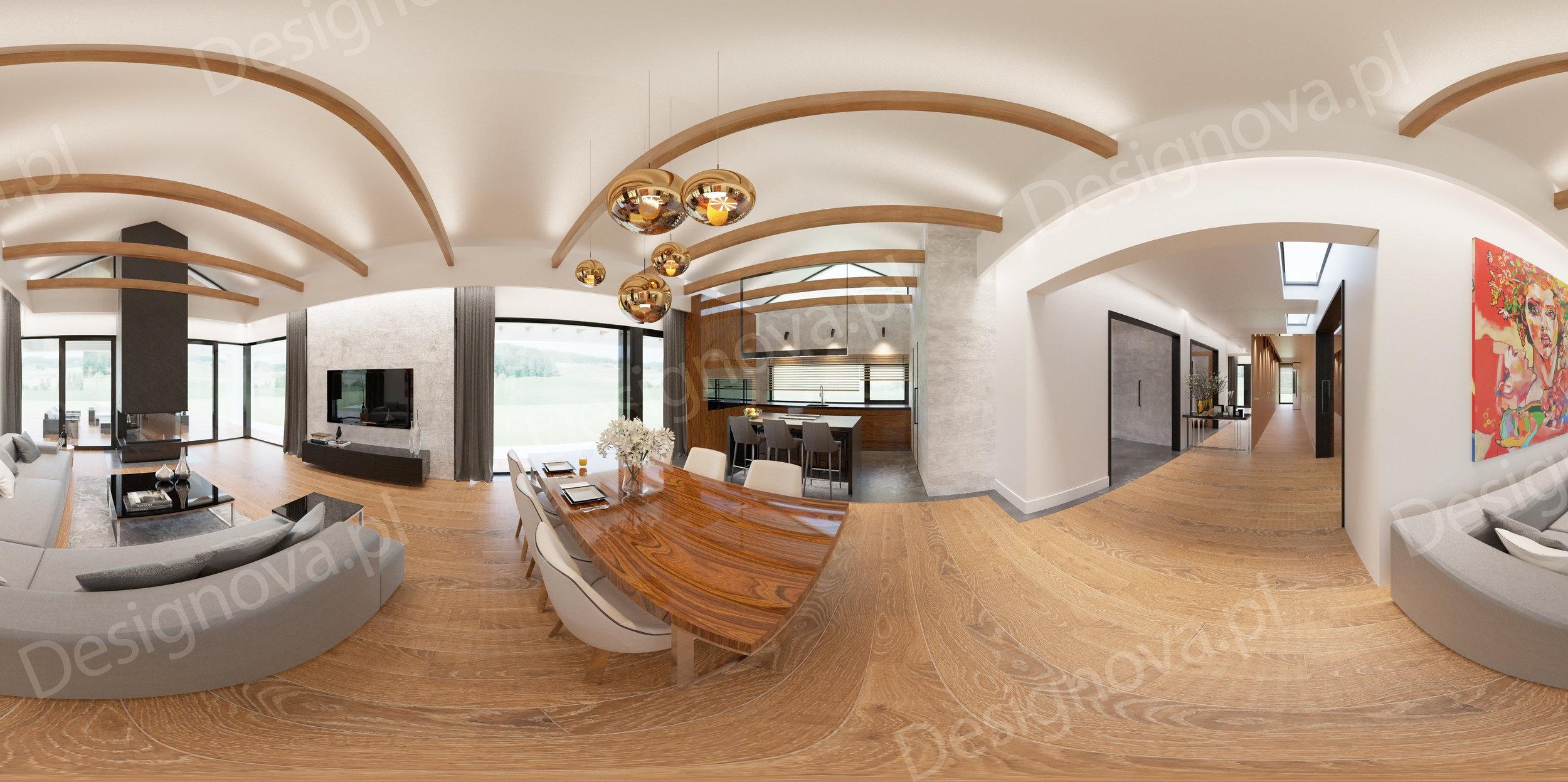 Panorama 360-wygenerowana z programu do grafiki 3D