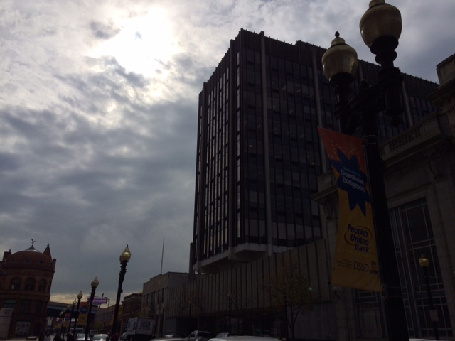 Our new headquarters are located directly across from the People's Bank HQ on Main Street in downtown Bridgeport.