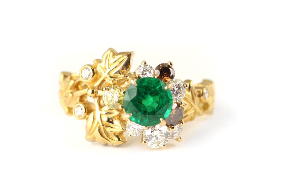 Emerald Ivy Ring