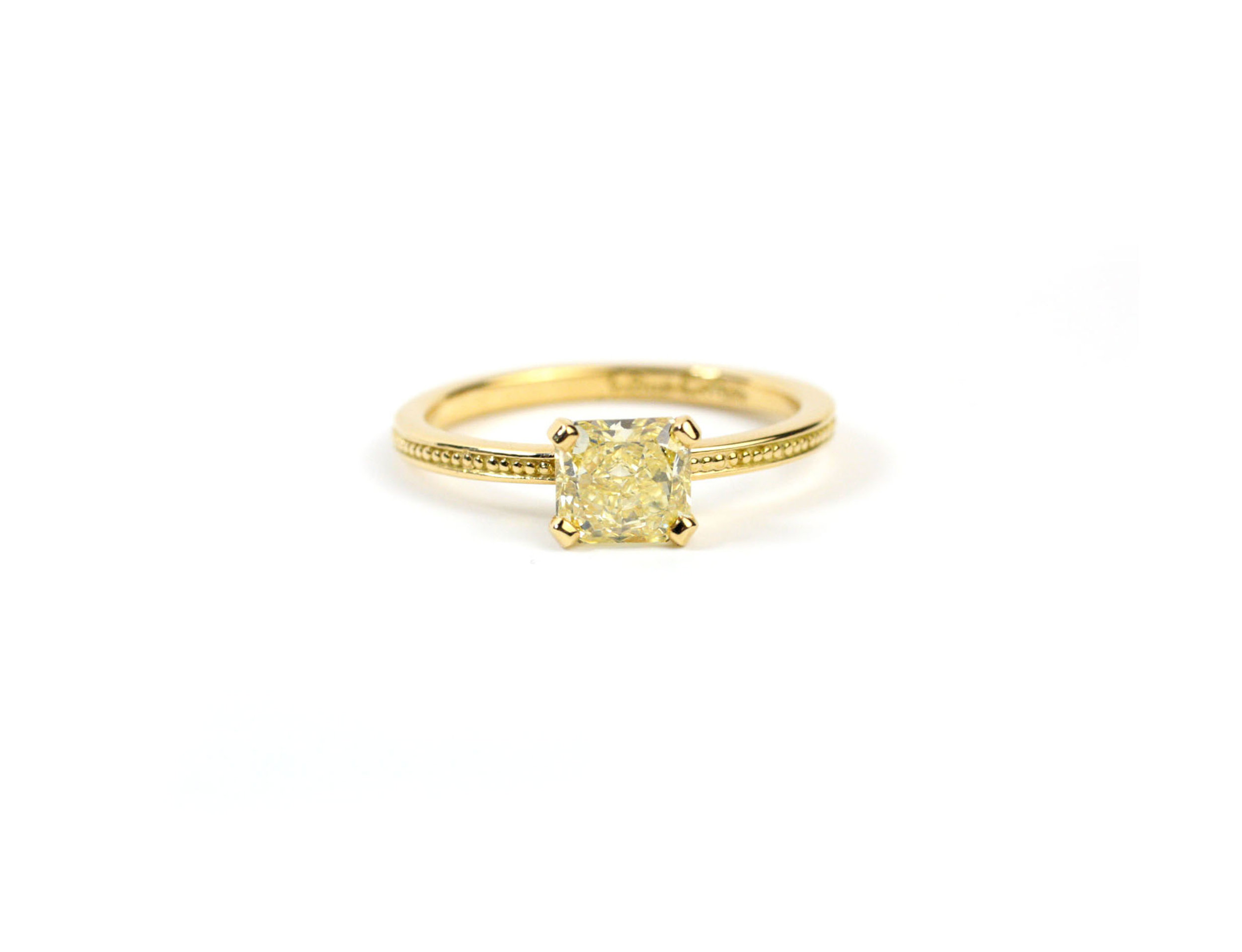 Yellow Gold Granulation Ring