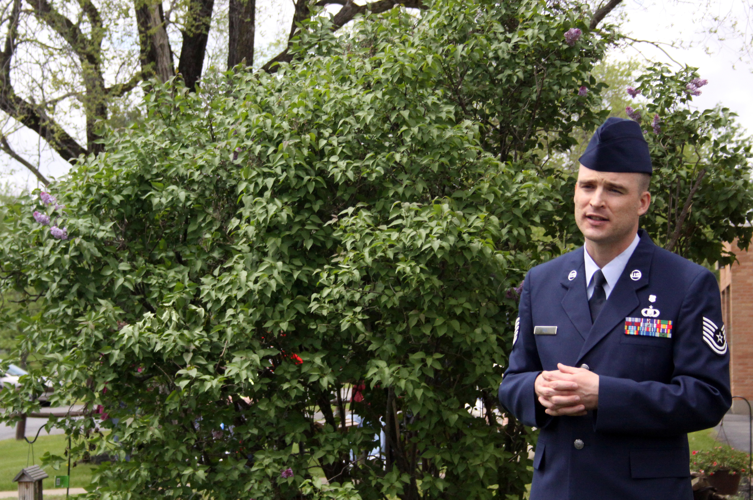 Lexington Safety Manager and Technical Sargeant, New York Air National Guard William Roe gave a moving speech about the history and meaning of Memorial Day.