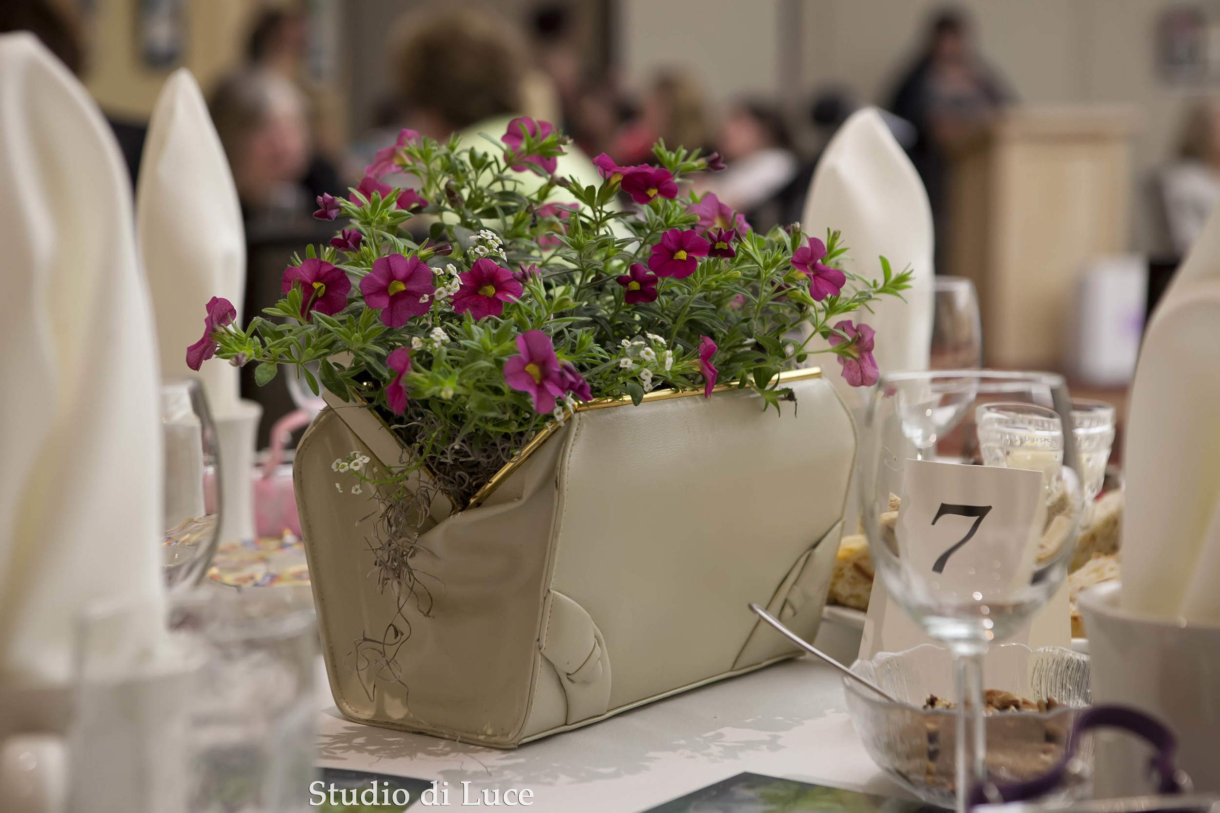 Centerpieces by Brenda Dwyer.