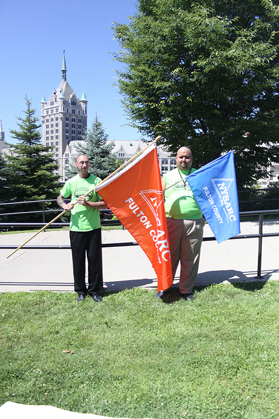 Patrick and Victor got to carry Lexington's chapter flags to the Capital.
