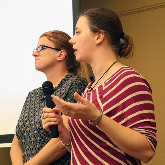 Lexington's Jennifer Feagles and Erin Hollenbeck give a presentation about how wellness affects our lives and brings us an improved quality of life.