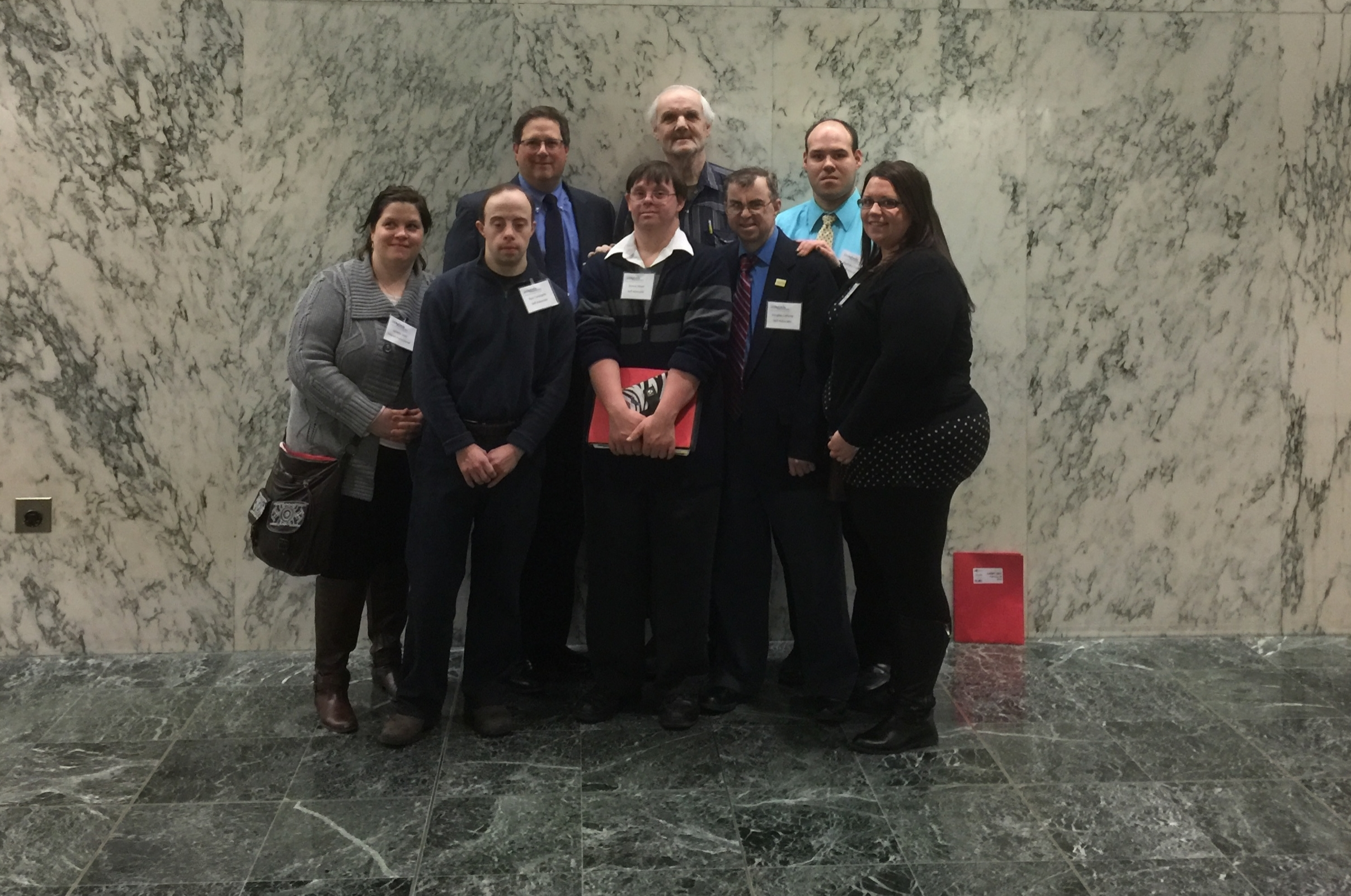 Here are our Self-Advocates with NYSARC Executive Director Steve Kroll.