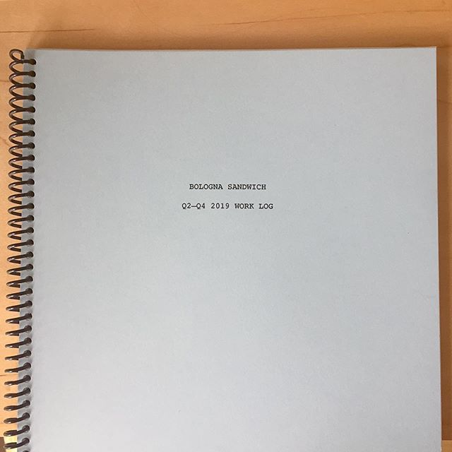 This analog spiral bound work log has revolutionized the way we track our time and calculate the cost of ongoing projects. #printedspreadsheetsforlife #noappsneeded #twopersonstudio